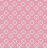 Stitch in White Circle on Pink 1 Metre Fabric