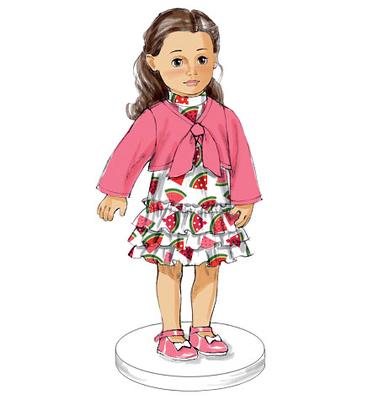 ABC Knitting Patterns - American Girl Doll Garter Stitch