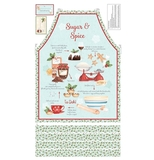 Sugar & Spice Christmas Apron Fabric Panel