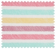 S&W Sewing Roll Sewing Kit: Pastel Sketch Stripe  3