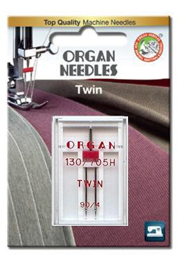 Organ Twin Needles | BLISTER PACK Size 90 / 4 | 1 Needle Per Pack