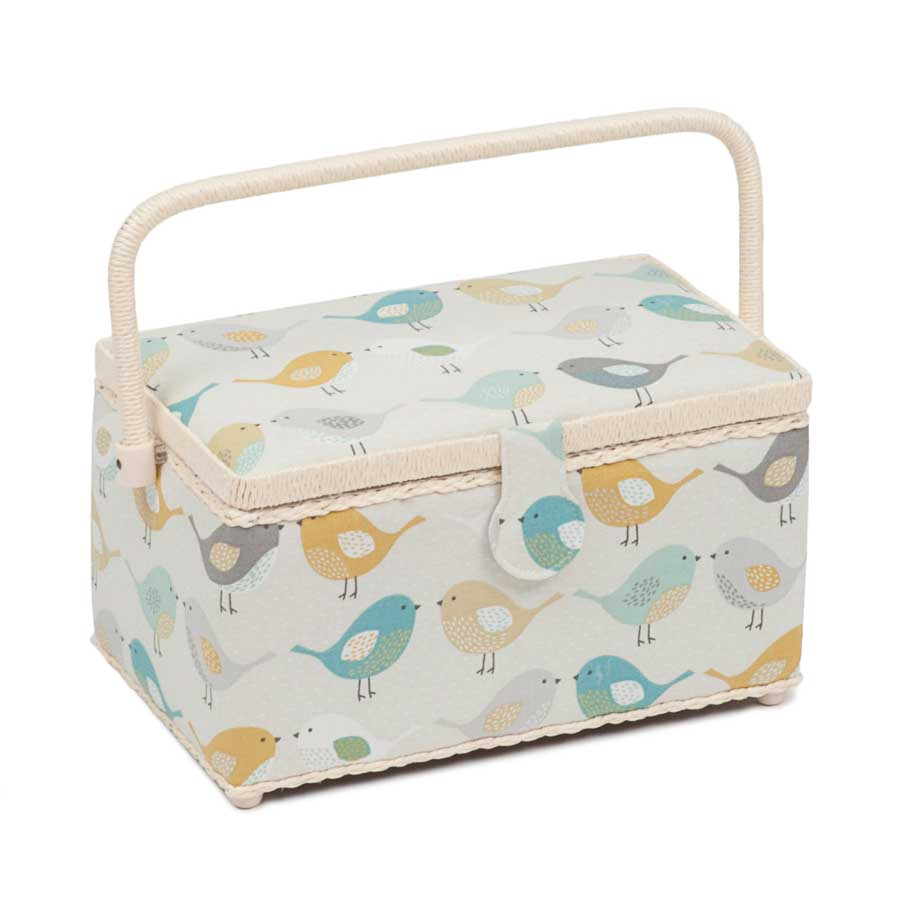 HobbyGift Premium Collection: Deep Rectangular Sewing Box: Birds | HGLD_451
