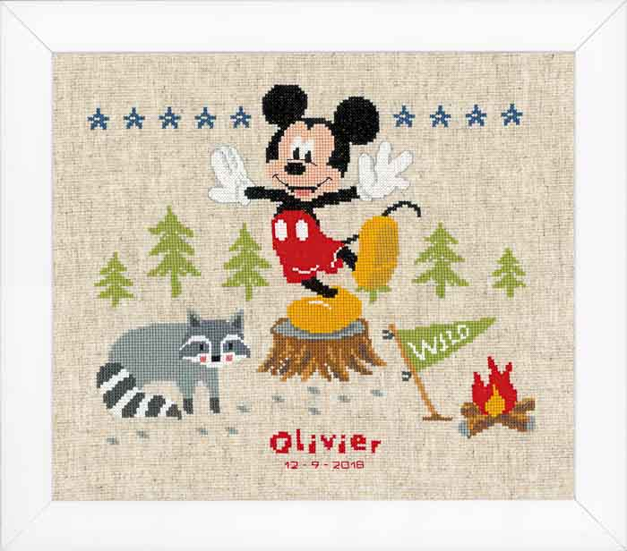 Vervaco Counted Cross Stitch Kit: Disney: A Woodsy Adventure | PN_0167674 Characters CSK