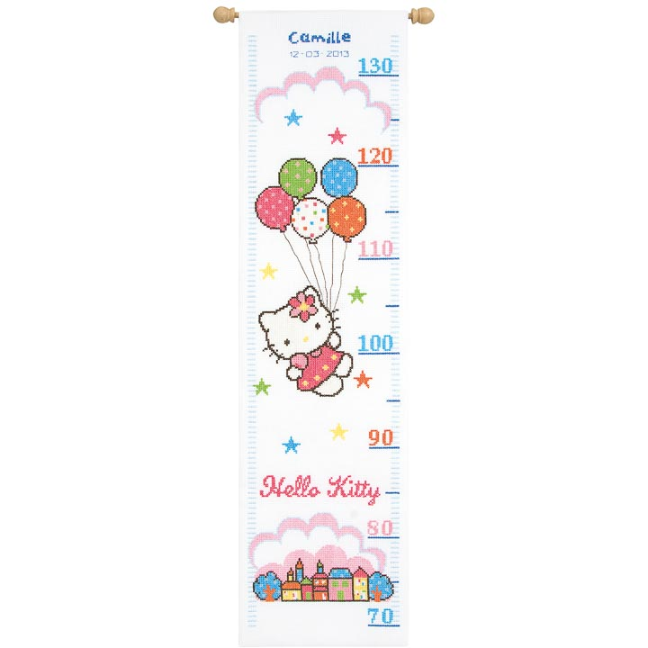 Vervaco Counted Cross Stitch: Height Chart: Hello Kitty