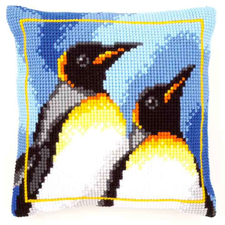 Vervaco Cross Stitch Cushion: King Penguins Sealife CSCK
