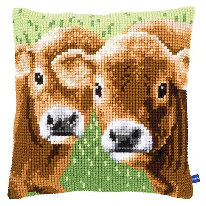 Vervaco Cross Stitch Kit: Cushion: Two Calves | PN_0155007