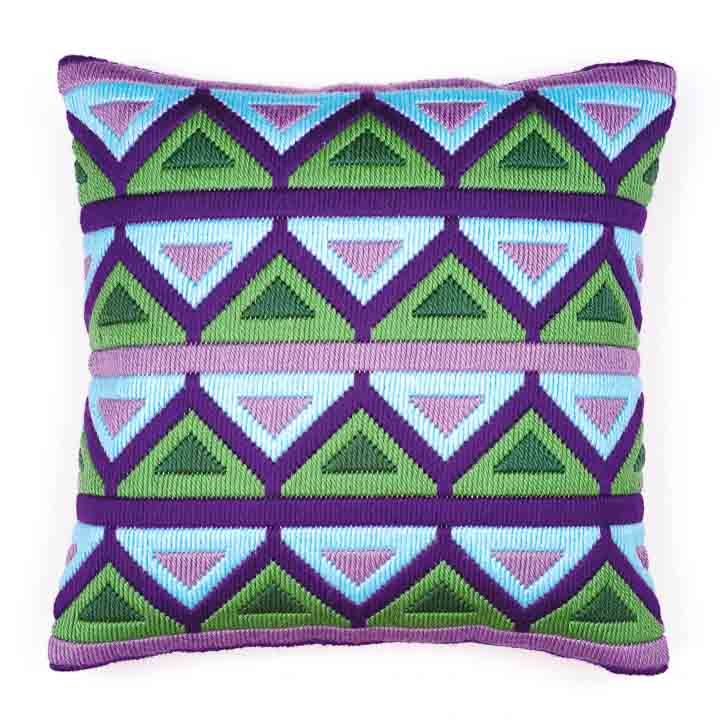 Vervaco Long Stitch Cushion Kit: Bold Geometric Style