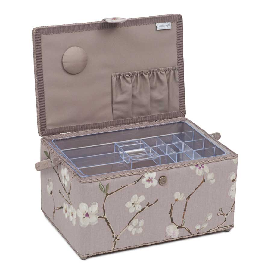 HobbyGift Premium Collection: Extra Large Sewing Box: Blossom | HGXL_453 Bird Print Sewing Box 3