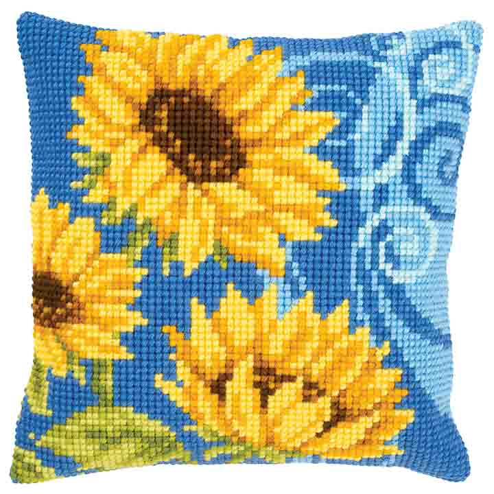 Vervaco Cross Stitch Cushion: Sunflowers