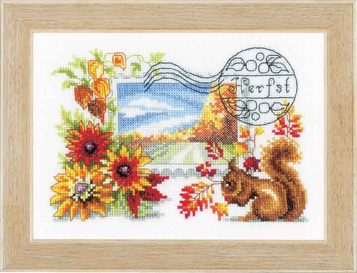 Vervaco Counted Cross Stitch: Autumn Stamp