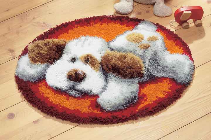 Vervaco Latch Hook Kit: Rug: Puppy Latch Hook Rug & Wall Hanging Kit