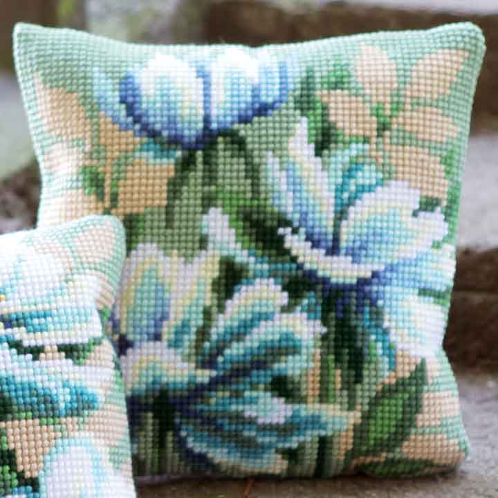 Vervaco Cross Stitch Cushion: Japanese Anemones I Flowers & Nature CSCK