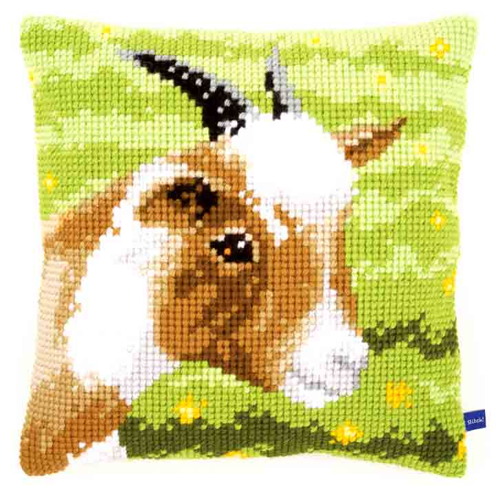 Vervaco Cross Stitch Cushion: Goat