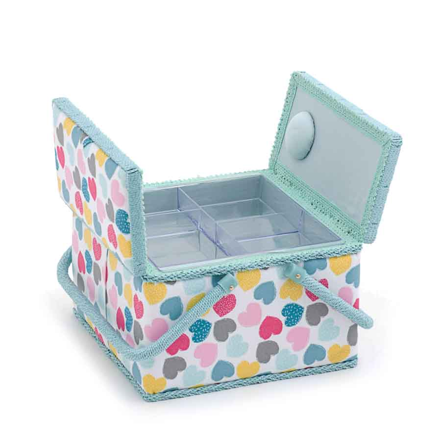 HobbyGift MRLTLE_276 | Sewing Box (L) Twin Lid Square | Love Love Print Sewing Box 2