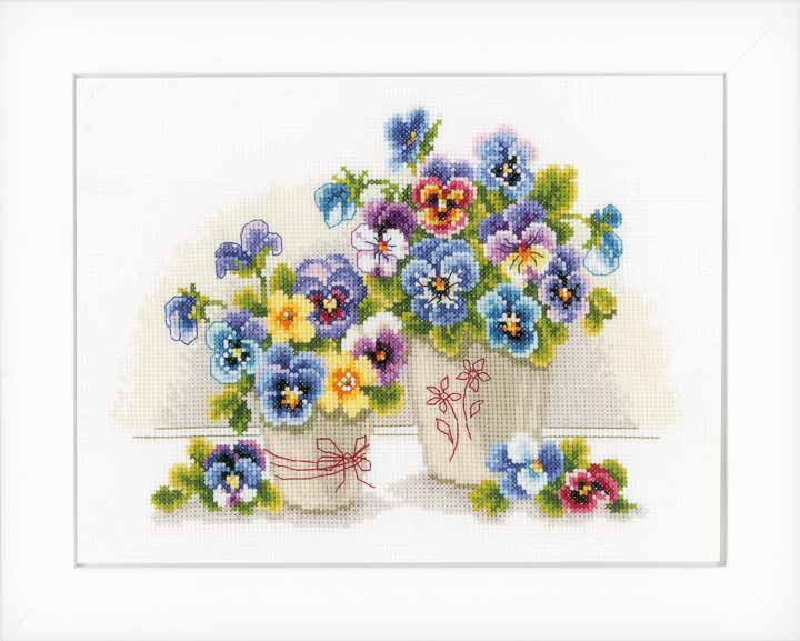 Vervaco Counted Cross Stitch: Pretty Pansies