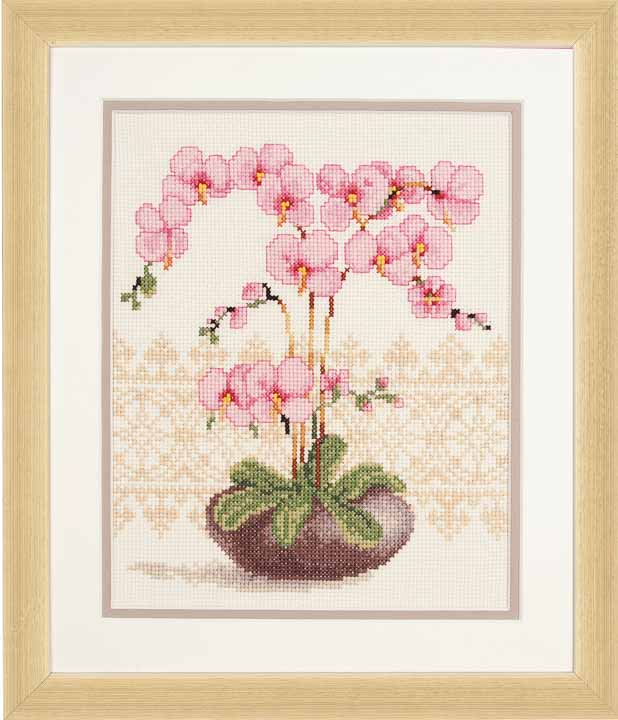 Vervaco Counted Cross Stitch Kit: Pink Orchid