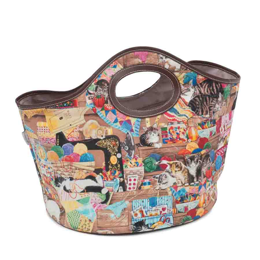 HobbyGift Craft Bag: Handheld Tote: Haby Cats | HGHHB_484