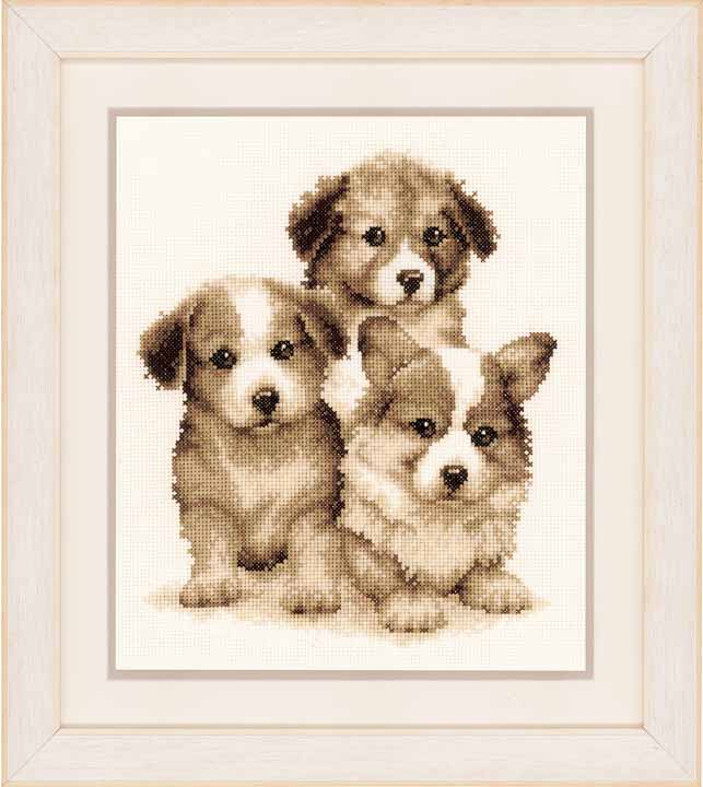 Counted Cross Stitch Kit: We Three Kings - Puppies Cats & Dogs CSK