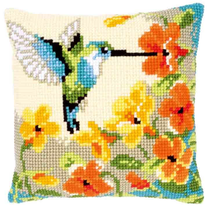 Vervaco Cross Stitch Cushion: Hummingbird