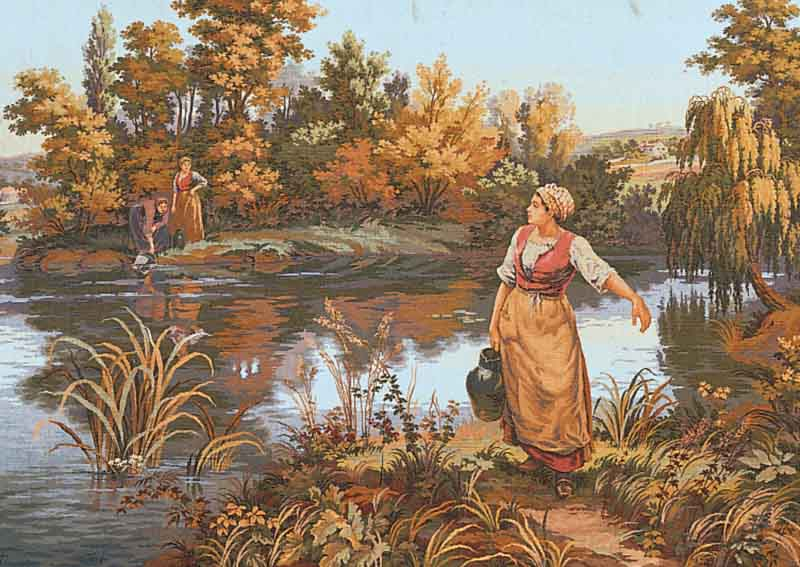 Collection D Art Printed Tapestry Canvas: the Water Carrier