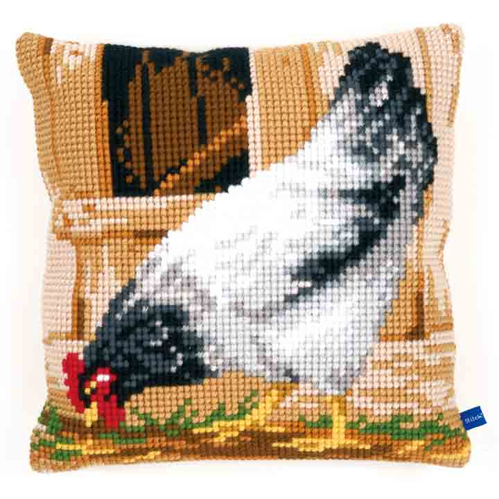 Vervaco Cross Stitch Cushion: Grey Hen