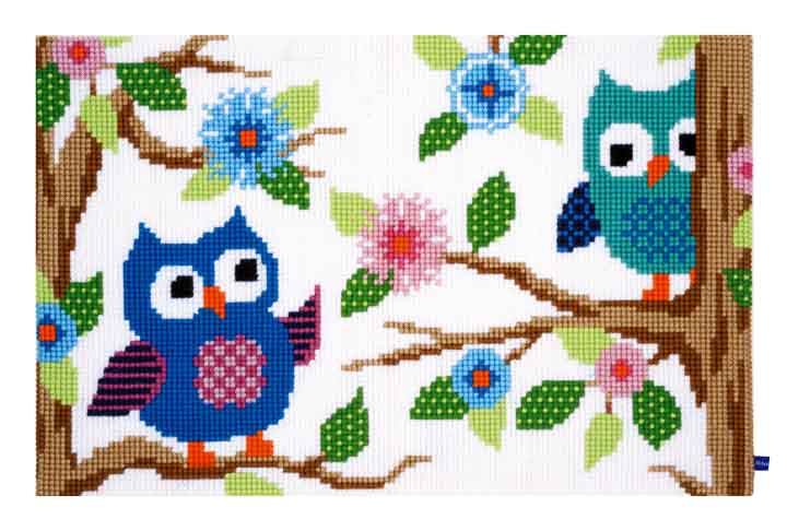 Vervaco Cross Stitch Rug: Owl Talk Rugs CSK