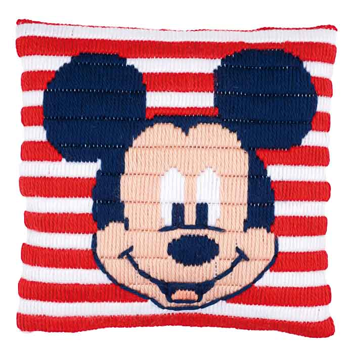 Vervaco Long Stitch Kit: Cushion: Disney: Mickey Mouse | PN_0169220 Long Stitch Cushion
