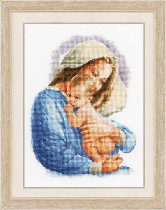 Vervaco Counted Cross Stitch Kit: Holy Mary Seasonal CSK
