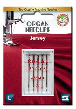 Organ Jersey Sewing Needles | BLISTER PACK Size 90/14 | 5 Needles Per Pack