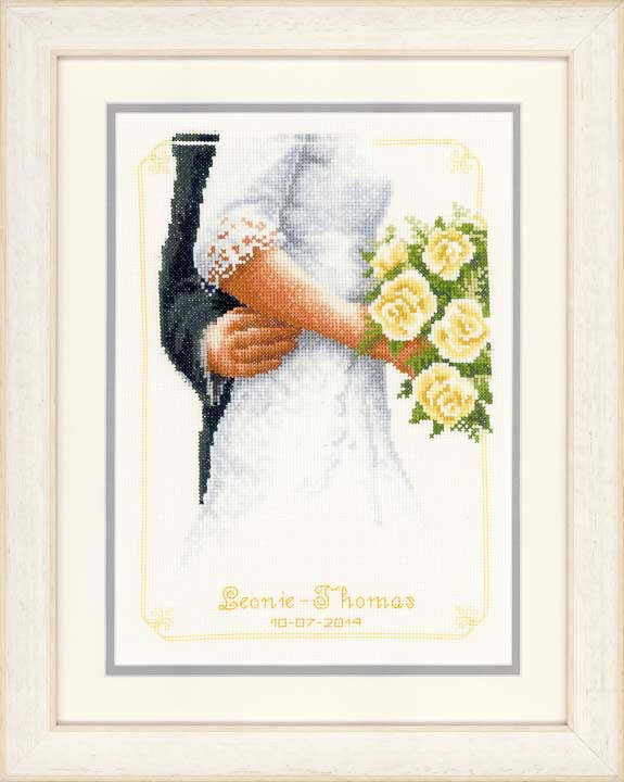 Vervaco Counted Cross Stitch Kit: Bridal Bouquet Wedding & Celebrations CSK