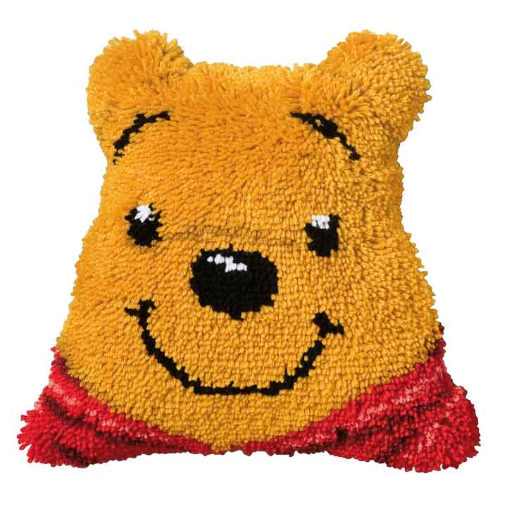 Vervaco Latch Hook Kit: Shaped Cushion: Winnie The Pooh