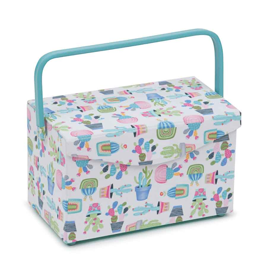 HobbyGift HGFB_459 | Classic Collection: Fold Over Sewing Box: Cactus Party