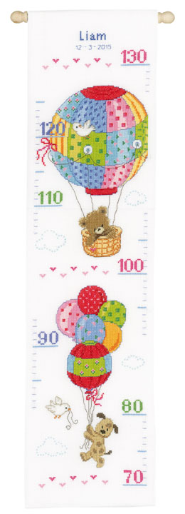 Vervaco Counted Cross Stitch Kit: Height Chart Travelling Height Charts CSK
