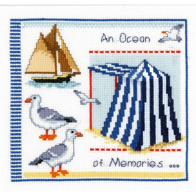 Vervaco Counted Cross Stitch Kit: An Ocean of Memories | PN_0144431 Sealife CSK