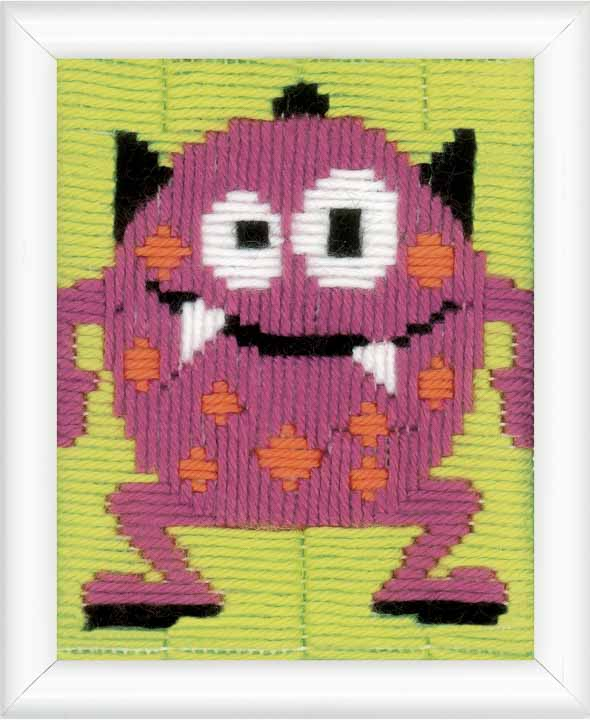 Vervaco Long Stitch Kit: Pink Little Monster III