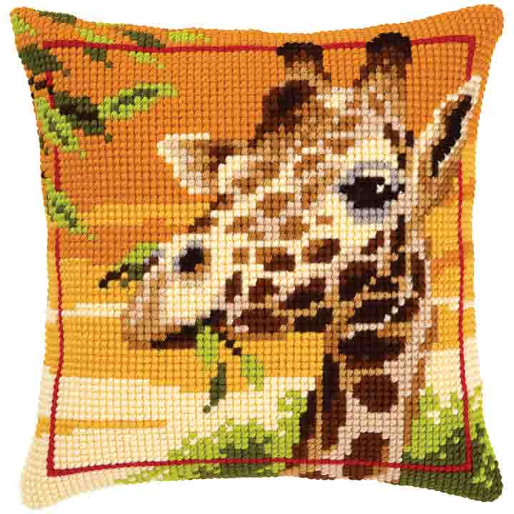 Vervaco Cross Stitch Cushion: Giraffe