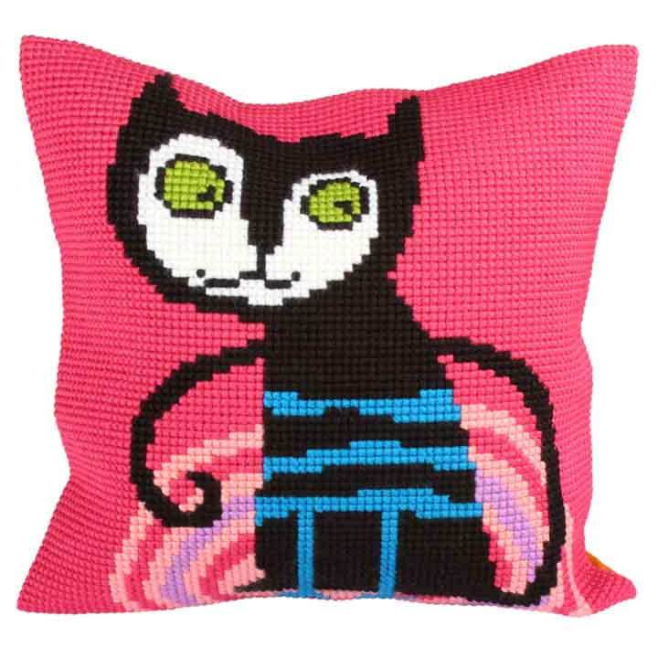 Collection D Art Cross Stitch Cushion: Kitty