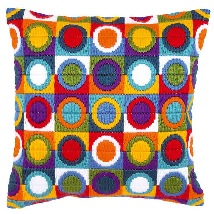 Vervaco Long Stitch Cushion: Circles
