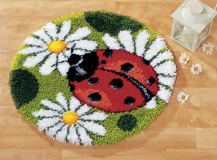 Vervaco Latch Hook Kit: Rug: Lady Bug Latch Hook Rug & Wall Hanging Kit