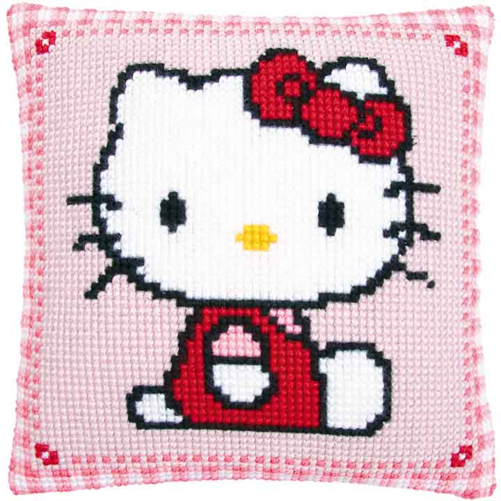 Vervaco Cross Stitch Cushion: Hello Kitty Characters CSCK