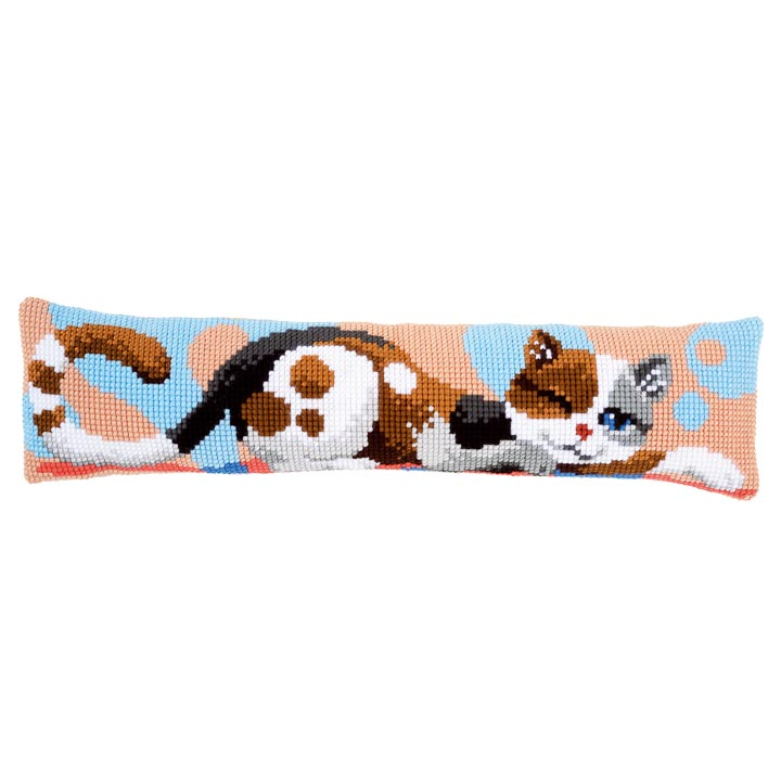Vervaco Cross Stitch Kit: Draught Excluder: Cat