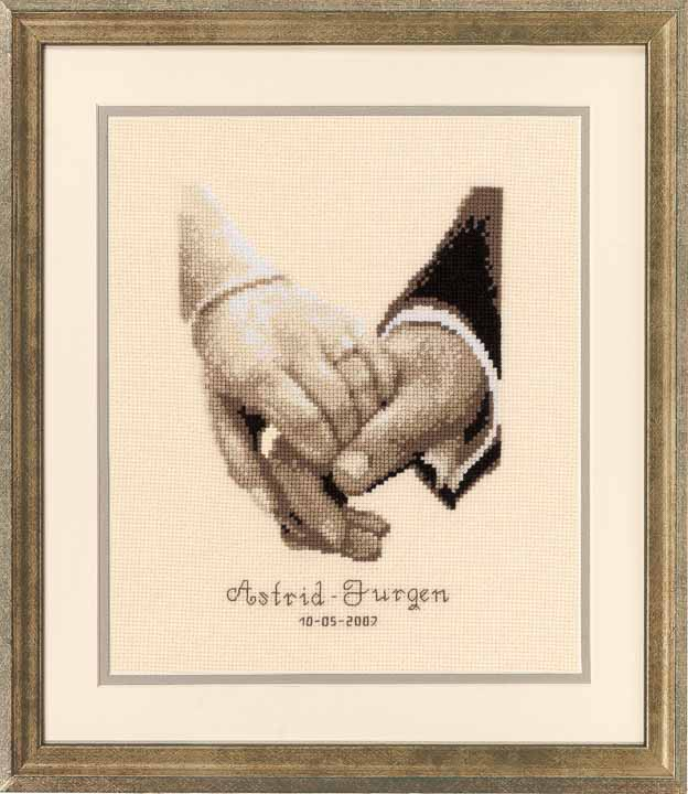 Vervaco Counted Cross Stitch Kit: Wedding Record: Wedding Happiness