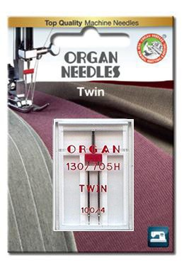 Organ Twin Needles | BLISTER PACK Size 100 / 4 | 1 Needle Per Pack