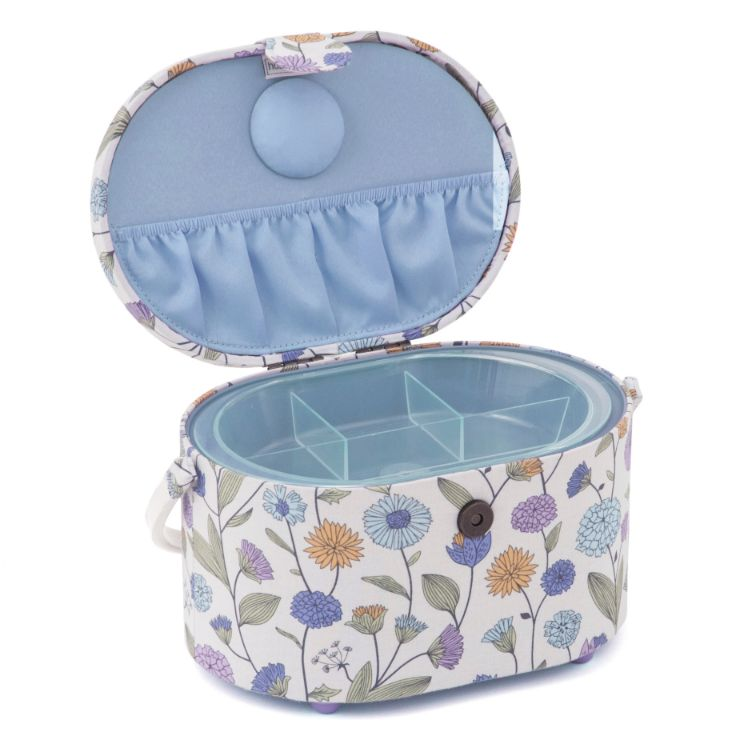 HobbyGift HGSOD_514 | Sewing Box (S) | Oval | Deep | Wild Flower Study  2