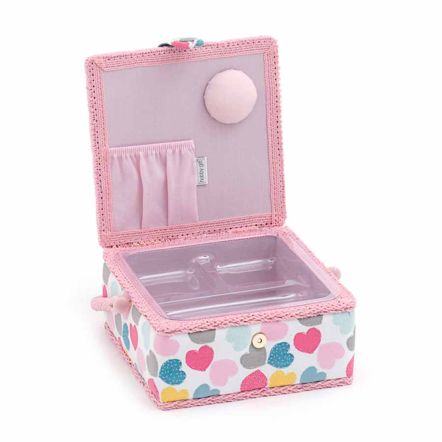 HobbyGift MRS_276 |Sewing Box (S): Square: Love Love Print Sewing Box 2