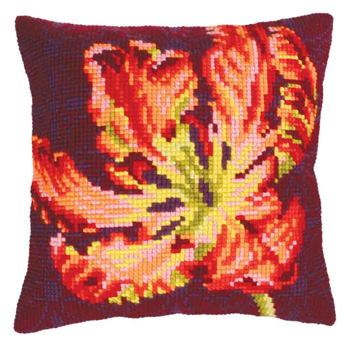 Collection D Art Cross Stitch Cushion: Red Tulip