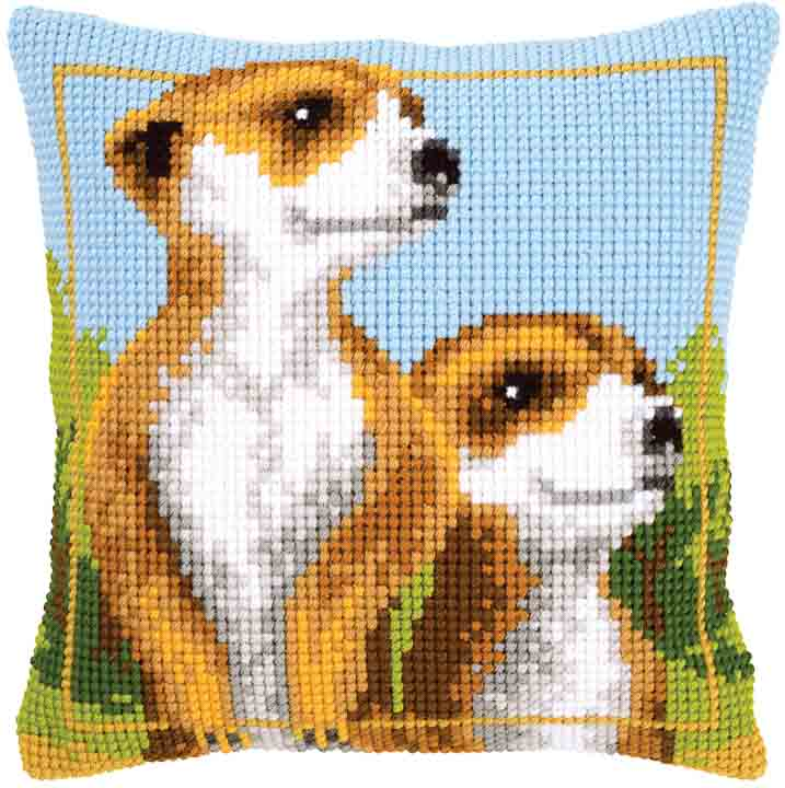 Vervaco Cross Stitch Cushion: Meerkats
