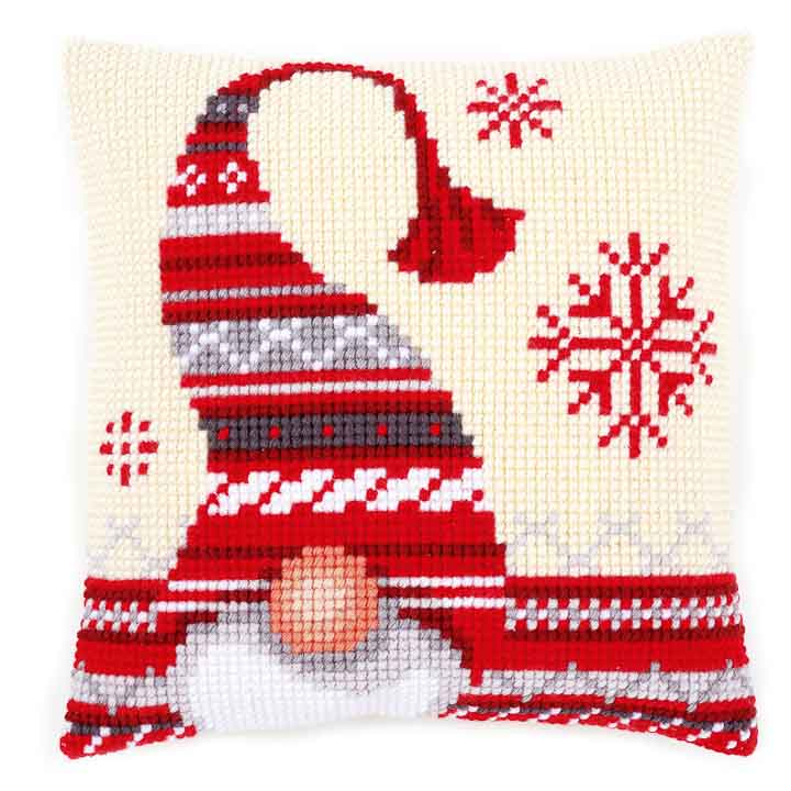 Vervaco Cross Stitch Cushion: Christmas Elf 1 Seasonal CSCK