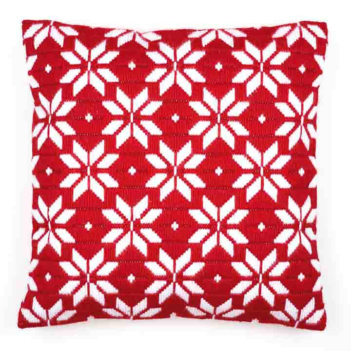 Vervaco Long Stitch Cushion Kit: Bold Geometric Style Long Stitch Cushion