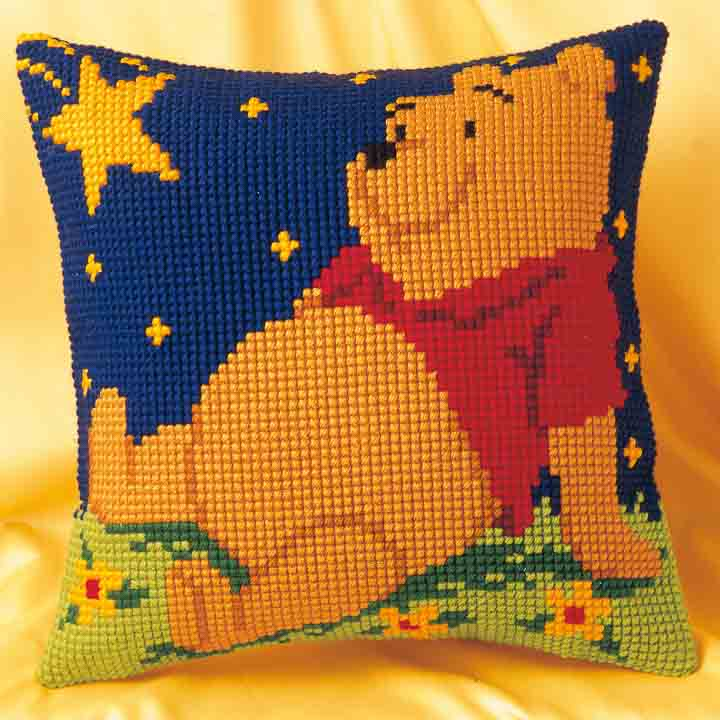 Vervaco Cross Stitch Cushion Kit: Winnie the Pooh